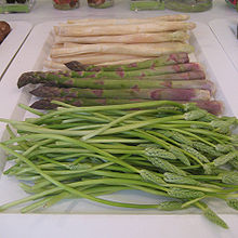 3 colors of Asparagus
