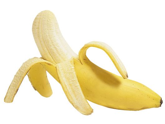 Banana Paritally Peeled
