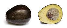 Avocado cross section cut